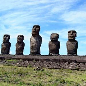 Brazil, Argentina & Chile with Easter Island (Monograms)